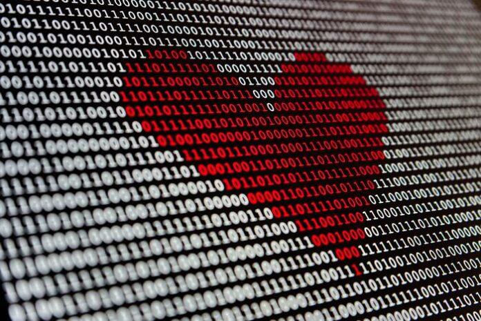 punainen sydän tietokoneen ruudulla